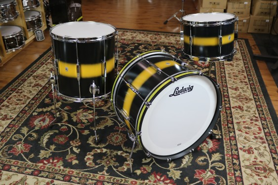 Ludwig Club Date Fab 4 Configuration, Black Gold Duco L6123LXU2