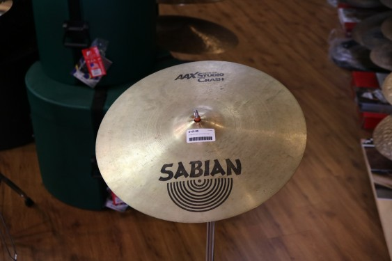 "Used Sabian 16"" AAX Studio Crash"