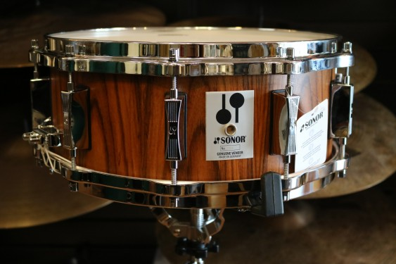 """Sonor Phonic Re-Issue Snare drum - Inner/Outer Rosewood Veneer 14"""" x 5 3/4"""" Beech"""