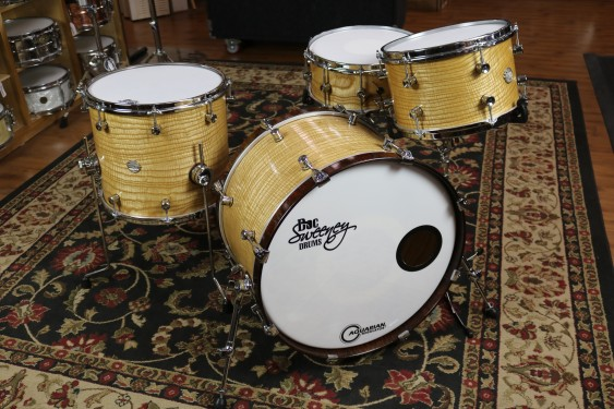 "Doc Sweeney ""VIBRATION"" STEAM BENT TIGER ASH 9x13, 14x16. 14x22, 5.75x14 Snare Drum"