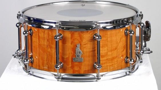 Brady 14 X 6.5 Sheoak Block Snare Drum Natural Gloss Finish