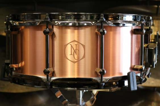 Noble & Cooley 6x14 Copper Snare Drum with Black Chrome Hardware FGNCCOPPER6