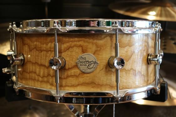 "Doc Sweeney 5.75""x14"" Vibration Tiger Ash Snare Drum"