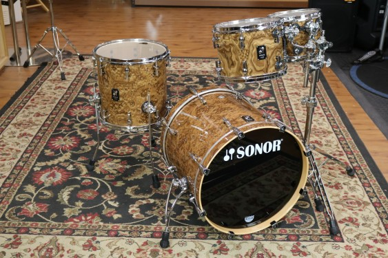 Sonor ProLite Stage 3 Chocolate Burl Lacquer, 8x10, 9x12, 14x14, 18x20 *Open Box