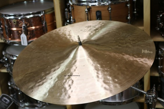 "Zildjian 22"" K Constantinople Renaissance Ride-Demo of Exact Cymbal-2502 Grams"