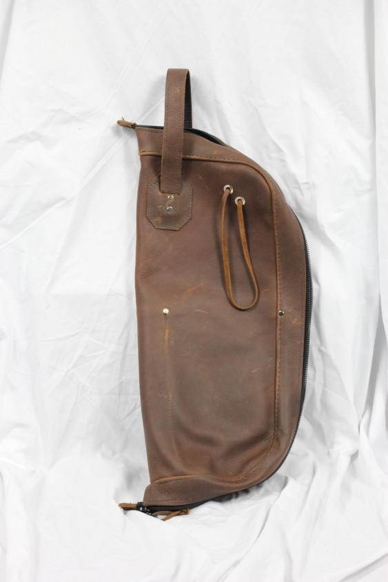 Woodshed Leatherworks Brown Leather Stick Bag