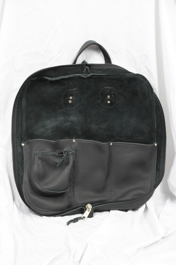 Woodshed Leatherworks Black Leather Stick Bag