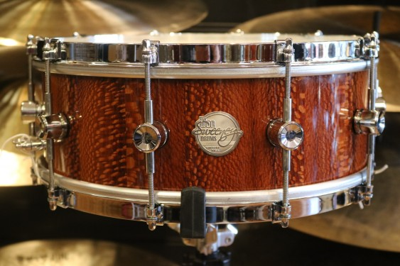 Doc Sweeney 6x14 Leopardwood Stave Shell Snare Drum