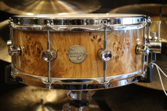 Doc Sweeney 6x14 German Burl Oak Stave Shell Snare Drum