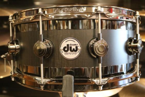 DW Collector's Series B-Stock  6x14 Edge Snare Drum in Ebony Satin Oil w/ Black Nickel Hardware