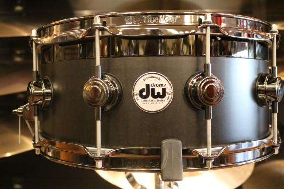 DW Collector's Series B-Stock 6x14 Top Edge Snare Drum in Ebony Satin Oil w/ Black Nickel Hardware
