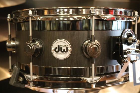DW Collector's Series 6x13 Edge Snare Drum in Ebony Satin Oil w/ Black Nickel Hardware