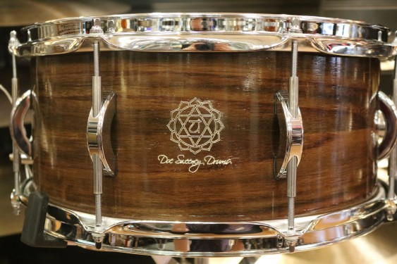 """Doc Sweeney """"Anahata"""" 6.5x14 Steam Bent East Indian Rosewood Snare Drum"""