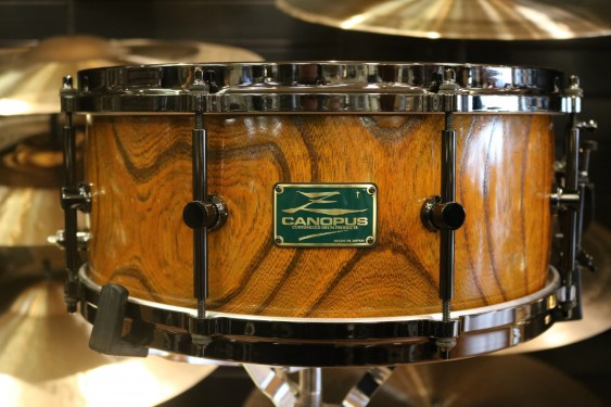Used Limited Edition 6.5x14 Canopus Zelkova w/ Humes & Berg Enduro Pro Case