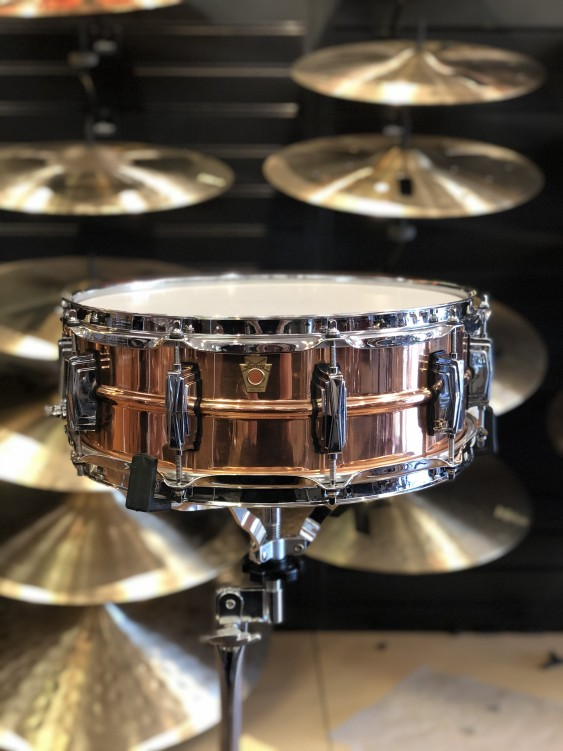 Ludwig 5x14 Smooth Copper Phonic Snare Drum
