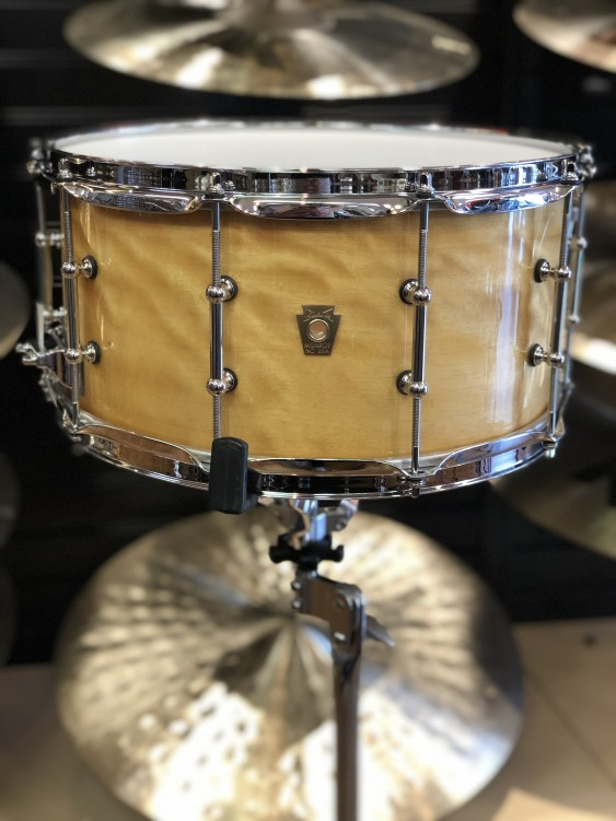 """B-Stock Ludwig 6.5"""" x 14"""" Satinwood Classic Maple 9ply Snare Drum"""