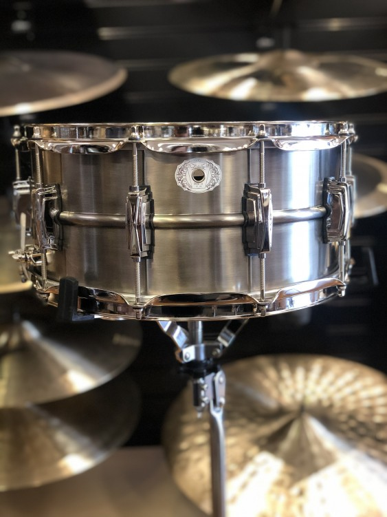 Ludwig 6.5x14 Pewter Copperphonic with Nickel Hardware