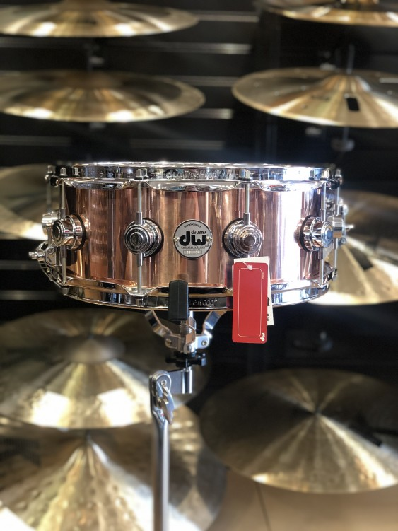 DW *Factory B-Stock* Collector's Series 5.5x14 Polished Copper Snare Drum