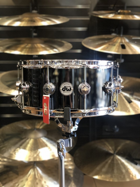 DW *Factory B-Stock* Collector's series 6.5x14 Black Nickel Over Brass Snare Drum
