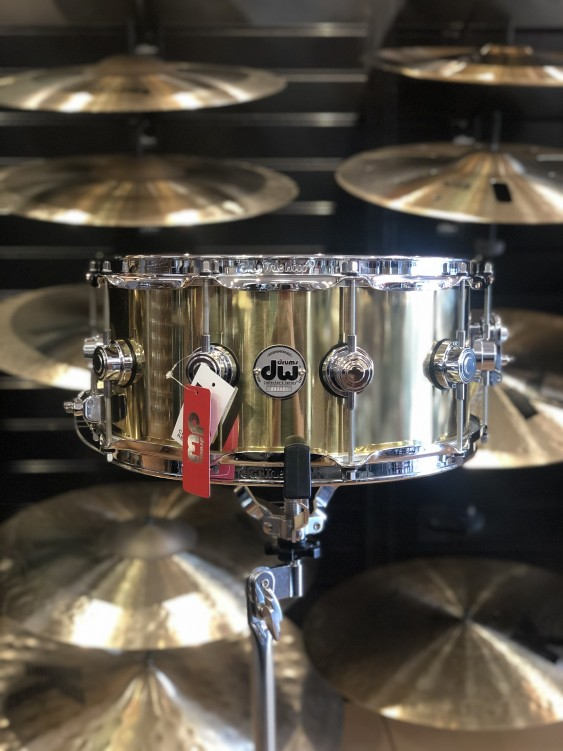 DW *Factory B-Stock* Collector's series 6.5x14 Polished Brass Snare Drum