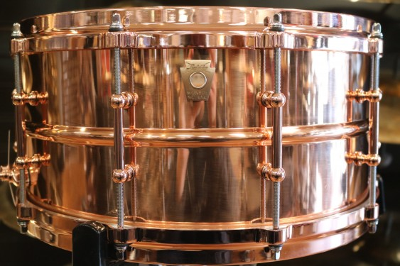 Ludwig 6.5x14 Smooth Copper Phonic Snare Drum with Copper Hardware/ Die-cast Hoops