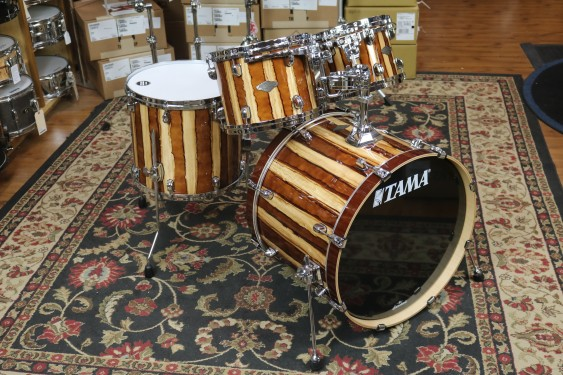 TAMA Starclassic Performer 4-piece shell pack, 8x10, 9x12, 14x16 Floor with 16x22 bass drum - Caramel Aurora Finish MBS42SCAR