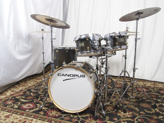 Canopus R.F.M. Studio Shell Pack in Ebony Lacquer Drum Set
