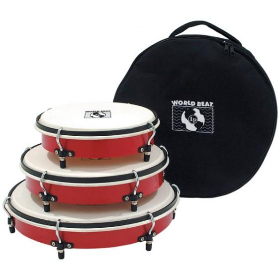 Set of 3 LP Latin Percussion World Beat Plenera Drums