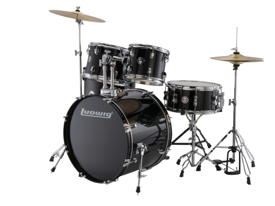 Ludwig Accent Drive Drum Kit with Hardware, Cymbals and Throne