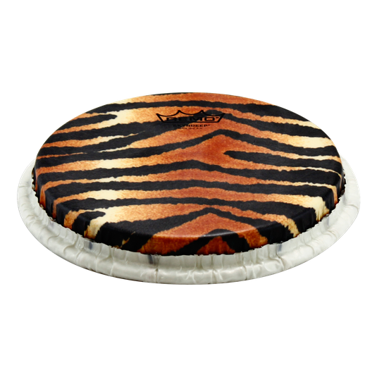 REMO Bongo Drumhead, SKYNDEEP®, 'Tiger Stripe' Graphic, M9 Type, 8.50'' Crown M9-0850-S5-SD007