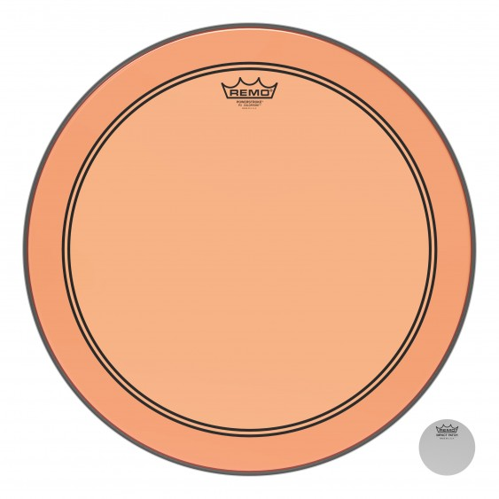 "Remo 18"" Powerstroke P3 Colortone Orange Bass Drumhead"