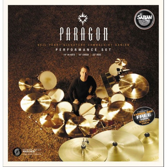 SABIAN Paragon Neil Peart Performance Cymbal Set Brilliant w/o Bag