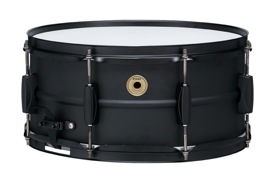 """TAMA Metalworks 6.5""""x14"""" Steel snare drum with Matte Black Shell Hardware"""
