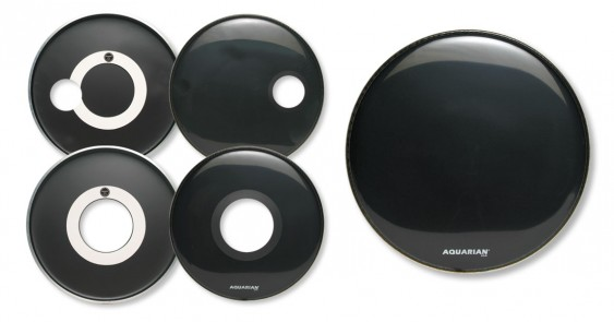 Aquarian 24'' Regulator w/ 4 3/4'' Offset Hole White Bass Drumhead
