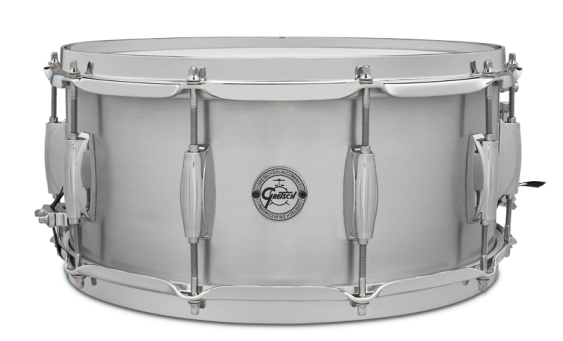 "Gretsch ""Full Range"" Grand Prix Aluminum Snare Drum 6.5x14 with 302 Hoops"