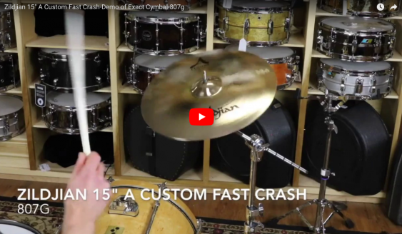 "Zildjian 15"" A Custom Fast Crash-Demo of Exact Cymbal-807g A20531"