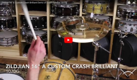 "Zildjian 16"" A Custom Crash Brilliant-Demo of Exact Cymbal-1070g A20514"