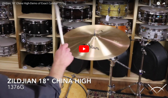 "Zildjian 18"" China High-Demo of Exact Cymbal-1376g A0354"
