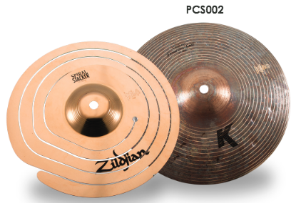 "Zildjian 10"" Stack Combo with FX Spiral Stacker (top) and K Custom Special Dry Splash (bottom)"