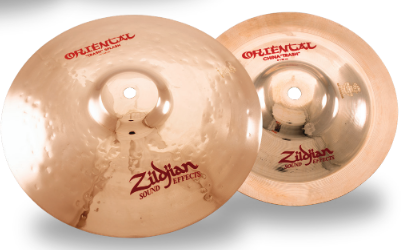 "Zildjian 11"" Stack Combo with 11"" Oriental Trash Splash (top) and 8"" Oriental China ""Trash"" (bottom)"