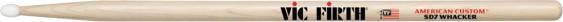 Vic Firth American Custom® SD7 Whacker Nylon Tip Maple Drumsticks