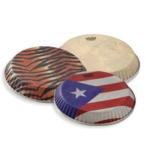 "Remo 11.75"" Skyndeep Crimplock Symmetry Puerto Rican Flag Drumhead M4 Type, D1"
