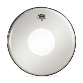 """Remo 18"""" Smooth White Controlled Sound Bass Drumhead w/ Black Dot On Top"""