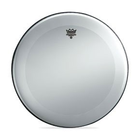 """Remo 24"""" Smooth White Powerstroke 3 Bass Drumhead w/ 2-1/2"""" White Falam Patch"""