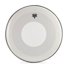 "Remo 22"" Smooth White Powerstroke 4 Bass Drumhead w/ White Dot Top Side"