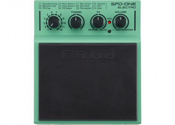 SPD-1E Electro Percussion Pad with mounting clamp