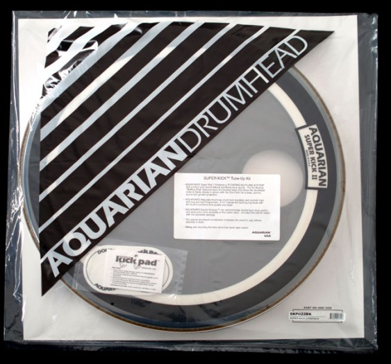 Aquarian 22'' Regulator/Super-Kick II Bass Drumhead Prepack