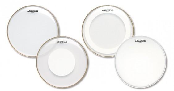 Aquarian 12'',13'',16'' Super-2 Clear w/Studio-X Ring Drumhead Prepack