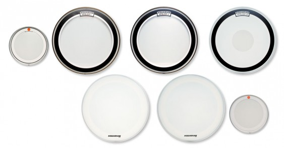 Aquarian 24'' Texture Coated Super-Kick II Bass Drumhead