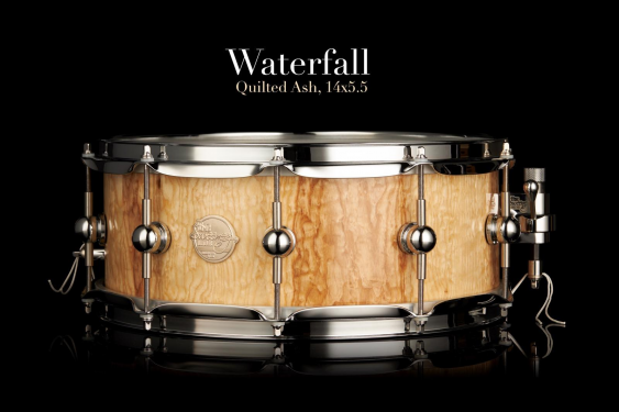 """Doc Sweeney """"Waterfall"""" 5.5x14 Quilted Stave Ash Snare Drum"""